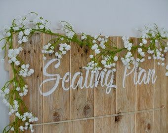 Gypsophila, Gyp, Baby's breath wedding garland