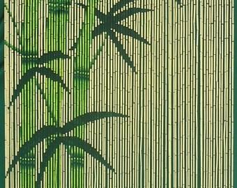 Green Bamboo Beaded Curtain