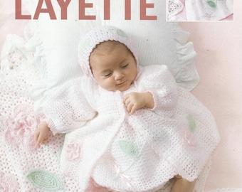 Crochet Pattern  Crochet Baby Layette Pattern Crochet Baby Blanket Baby Hat Booties Pattern