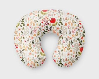 Minky Boppy Slipcover .Boppy Pillow Cover. Girl Nursing Pillow Cover. Baby Girl Nursery Decor. Boppy Pillow. Floral Nursing Pillow.