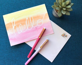 Watercolor Resist Note Cards DIY Craft Kit for Individuals or Groups