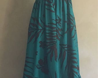 Vintage Tropical Sundress Cotton made in India