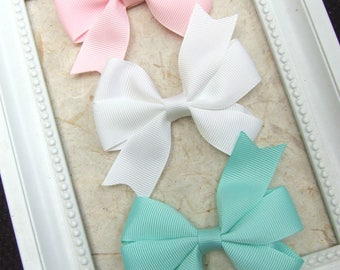 Classic Pinwheel Hair Bows, Hair Clips For Baby, BEST SELLER, Pastel Bow Clips, Toddler Girl, Girl Hair Clips, Teen Hair Clips