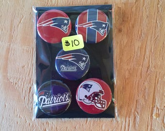 "1.25"" Button Magnets - New England Patriots"