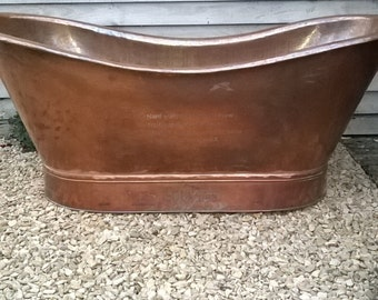 handmade hammered copper bath