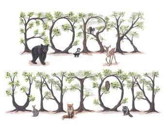 Fork Union Woodland Print
