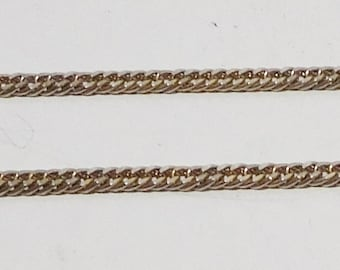 Long Chain Necklace, Gold Tone that looks Silver now, Tarnished, 55 inches, Vintage