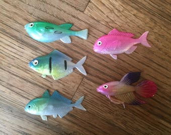 Plastic Fish Cake Toppers