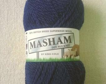 King Cole 100% British Breed Superwash Wool, 1297 Navy, Yarn