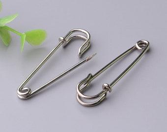 iron kilt pins silver pins 10pcs 50*10mm for brooch making clothing safety pins
