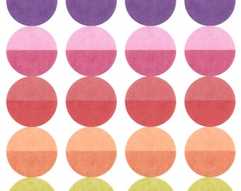"""Two Toned 1"""" Circles 