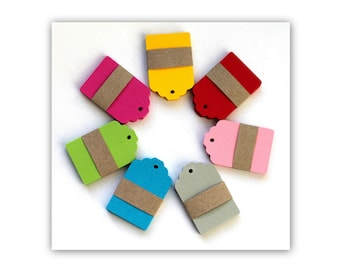 20 small Kraft Tags, Cardstock Wish Tags, Escort Cards, price tag, sweet-trailer, Gift Tag, label, Note Card, Recycling, scrapbooking