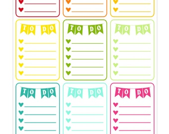 to do list checklist stickers for life planner vertical stickers for Erin Condren - Full Box Checklists Planner Stickers for EC To Do Tasks