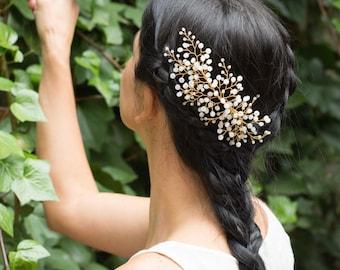 bridal side headpiece, bridal crystal side headpiece, bridal side hair vine, bridal crystal headpiece, bohemian bridal headpiece, hairpiece