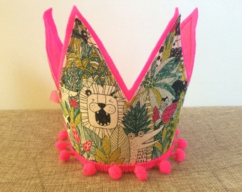 Pink Monster Crown