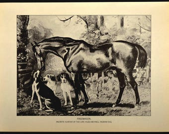 Horse Print Horse Wall Art Horse Wall Decor Book Page Thoroughbred