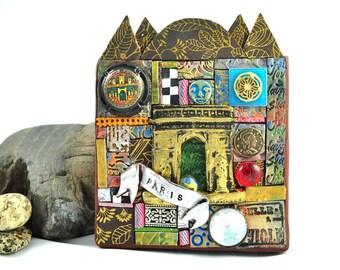 PARIS Mosaic Plaque, Memories of France, L'arc de Triomphe