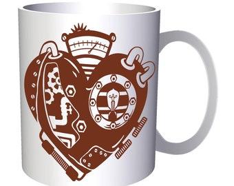 Steampunk Heart 11oz Mug n971