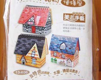 DIY Wood House w/ Memo Pad, Kids Party Gifts, Kids Craft Supplies, wholesale craft supply, Unfinished Wood Box, custom gift
