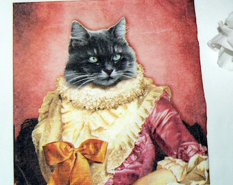 2  images Napkins from cat in drag