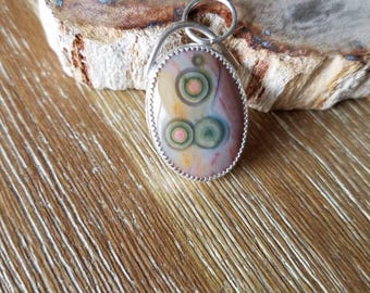 Ocean Jasper Pendant By Jean. Made To Order