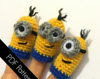 Minion-Inspired Finger Puppets - PDF WRITTEN PATTERN (digital item)