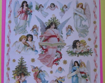 20 Angel Christmas Stickers by John Grossmanv1997