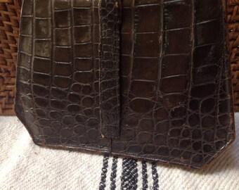 Vintage alligator clutch