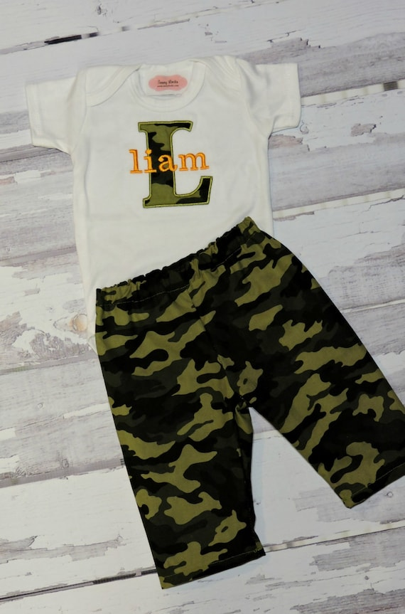 Baby boy clothes personalized baby boy outfit monogram baby baby boy clothes personalized baby boy outfit monogram baby boy camo bodysuit and pants baby outfit newborn boy baby gift negle Image collections