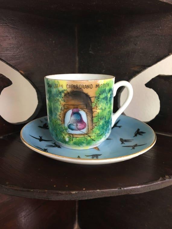 Souvenir handbemalte Teetasse aus Capistrano Kalifornien