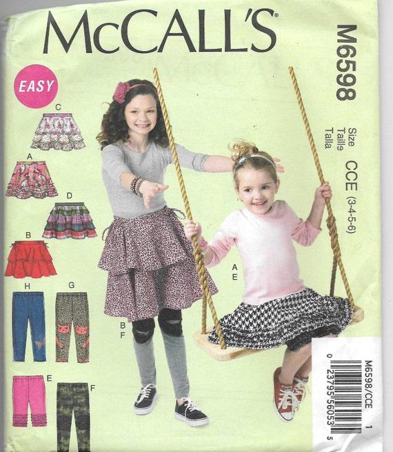 Uncut, Kindergröße 3-6, Schnittmuster, McCall 6598, Mädchen, Hosen ...