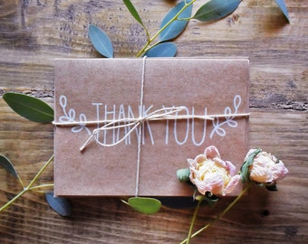 Kraft Thank You Cards (Set of 5)