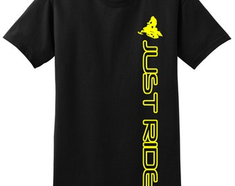 Sled Snowmobile T Shirt Just Ride