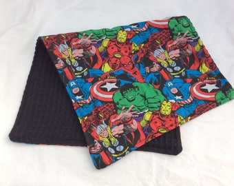 Large superhero dish towel