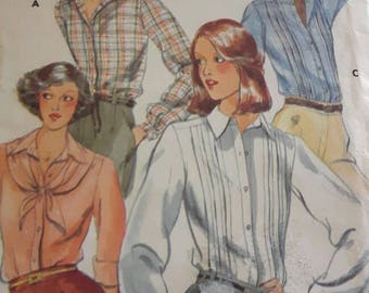 Women's and Misses Vintage Uncut Blouse Sewing Pattern