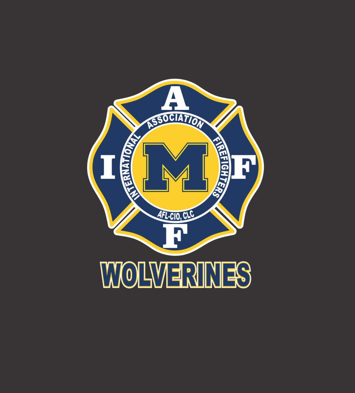 IAFF Michigan Wolverines Car Decal for Union Firefighters