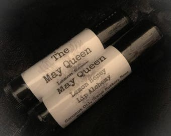 THE MAY QUEEN  Lemon & Honey Lip Balm with Cocoa Butter~Lip Alchemy~ herbal, natural, beeswax, coconut oil, natural lip balm