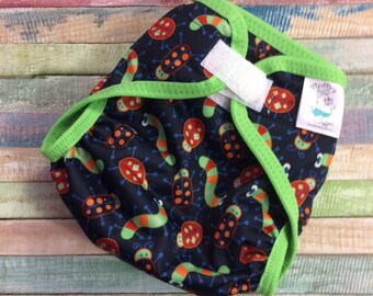 Bugs Poly PUL Cloth Diaper Cover With Aplix Hook&Loop Or Snaps You Pick Size XS/Newborn, Small, Medium, Large, or One Size