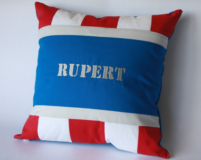 Marvel Avengers Pillow/Superhero Baby Pillow--Captain America--with embroidery!-MTO