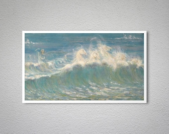 Neptun's Horses by Walter Crane - Poster Paper, Sticker or Canvas Print / Gift Idea