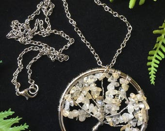 Citrine Tree of Life Necklace
