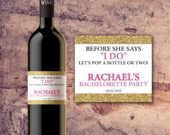 PERSONALIZED BACHELORETTE PARTY Custom Favors Wine Bottle Labels, Bachelorette Decorations, Custom Party Wine