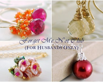 Forget Me Not Club One Year Subscription Sterling Silver Gold Gemstone Pearl Jewelry Complimentary Shipping
