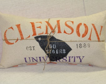 Hometown Clemson Pillow