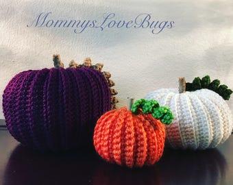 Crochet Pumpkins - S, M, or L