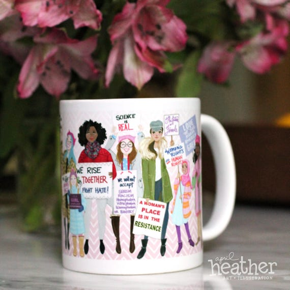 Women's March Commemorative Mug by HeathersSketchbook