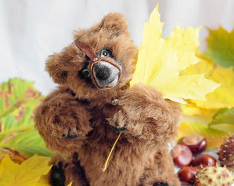 SOLD Realistic bear Artist Teddy Bear OOAK realistic bear Ustinja