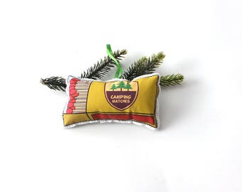 Camping Ornament: tree decoration- Christmas Ornaments-Matches
