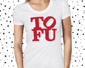 Vegan Shirt for Women - Tofu Love T-shirt - Cute Vegan Shirt - Pun Shirt - Funny Vegan T-shirt - Cute Vegan Tee - Vegetarian Tee - Plant Tee