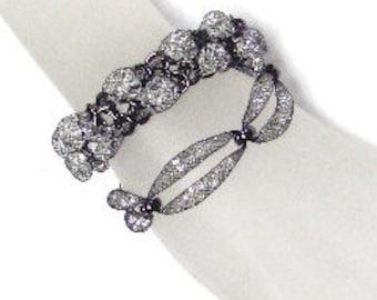 Twist Mesh Net Crystal Bracelet_ 2 shapes for selection